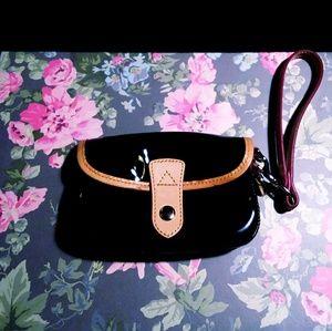 Dooney & Bourke Black Patent Leather Wristlet